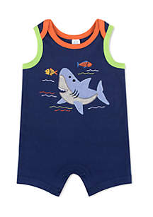 B4 Whale Romper Infant Boys