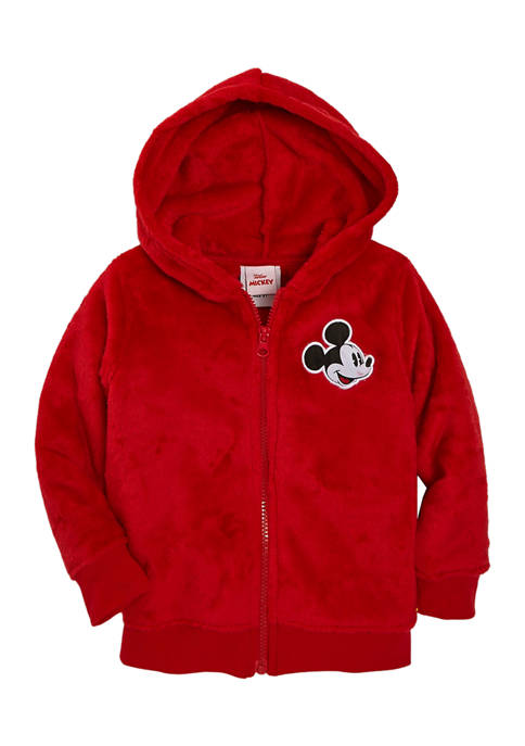 Disney® Mickey Toddler Boys Character Sherpa Zip Up