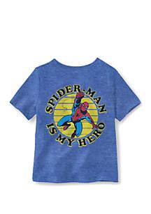 Well Worn Toddler Boys Hero Face Spiderman T-Shirt