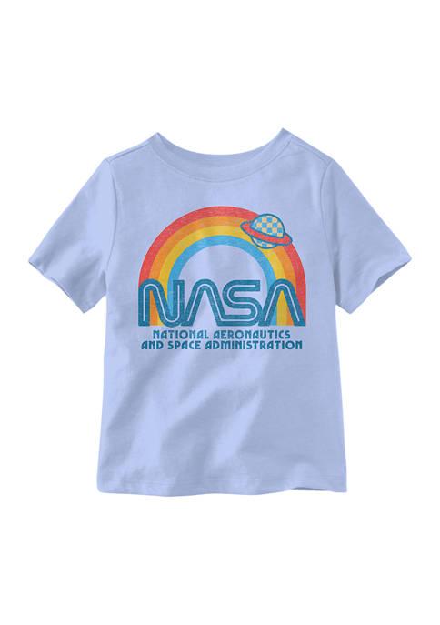 Toddler Boys Saturn Rainbow NASA T-Shirt