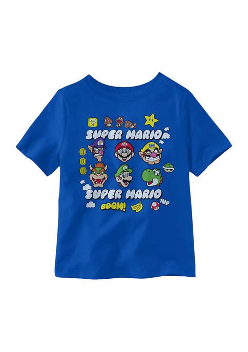 Nintendo Toddler Boys Super Mario Fun Heads Graphic