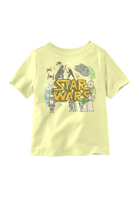 Toddler Boys Star Wars Doodle Graphic T-Shirt