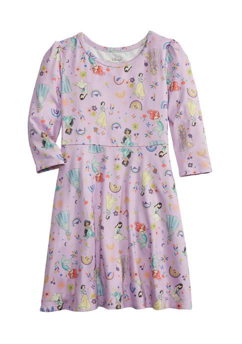 Toddler Girls Long Sleeve Peached Jersey Dress