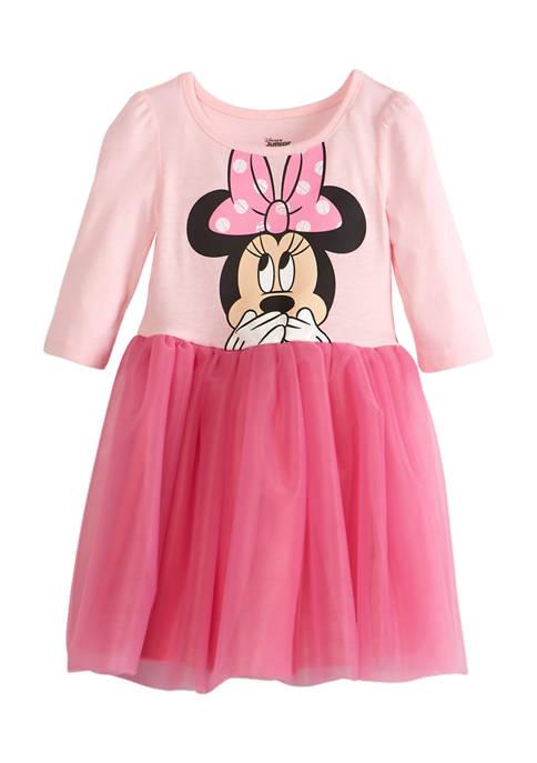 Disney® Minnie Toddler Girls Long Sleeve Dress with