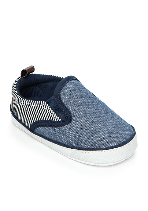Carter's® Chambray Stripe Slip-On Shoes