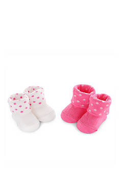 Carter's® 2-Pack Dot Keepsake Booties