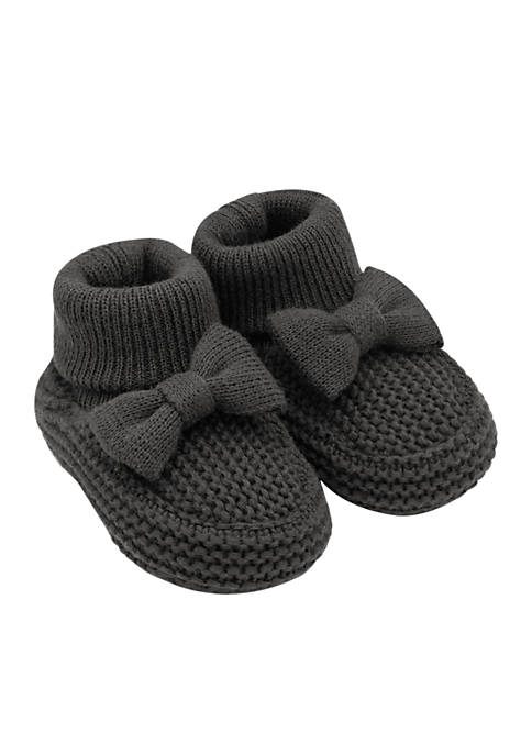 Carter's® Girls Infant Knit Bow Booties