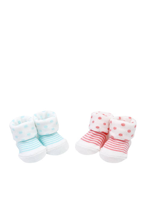 Carter's® Girls Newborn Cotton Blend Booties