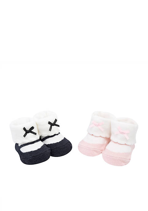 Girls Infant Knit Booties