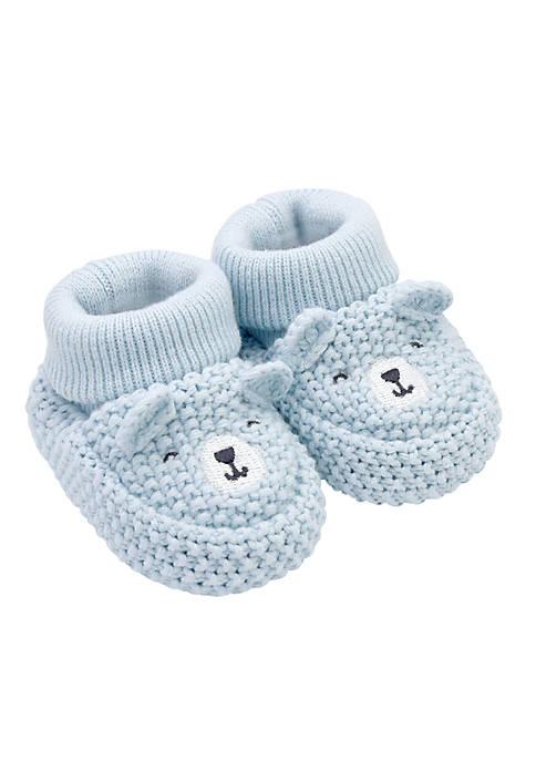 Carter's® Boys Newborn Bear Knit Booties