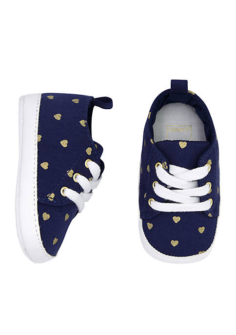 Carter's® Baby Girls Navy Heart Low Top Sneaker