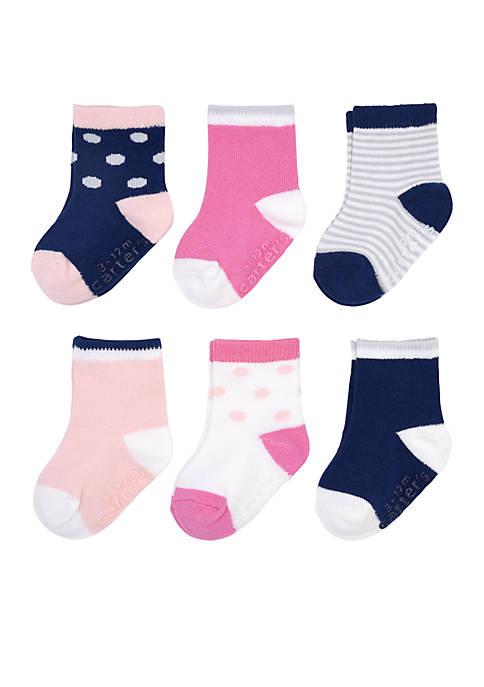 Carter's® Baby Girls Dot Stripe Sock Set