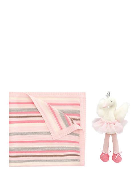 Elegant Baby Baby Girls Swan Gift Set