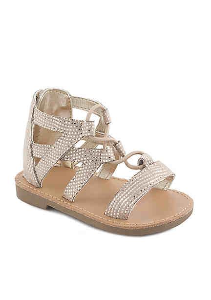 Nursery Rhyme Infant Girls Champagne Gladiator Sandals