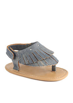 Nursery Rhyme® Denim Fringe Sandals