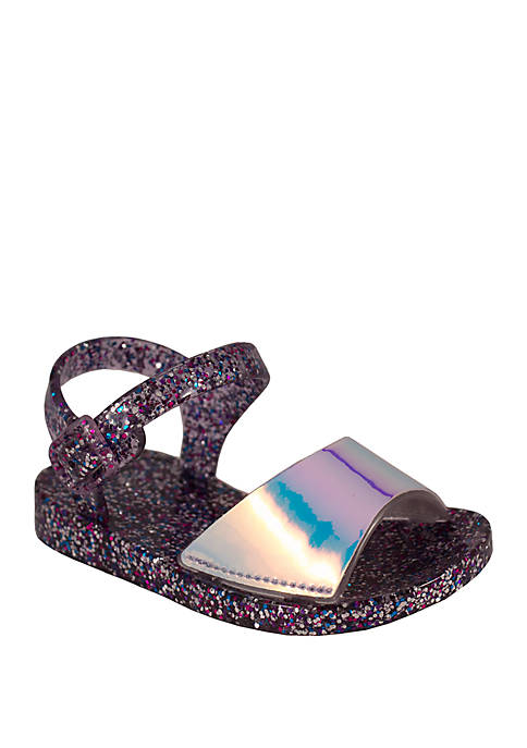 Lightning Bug Girls Purple Sparkle Jelly Sandals
