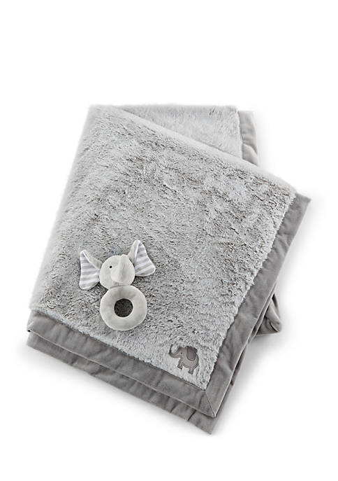 Baby Aspen™ Little Peanut Elephant Blanket and Rattle