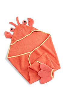 Baby Aspen™ Lobster Laughs Lobster Hooded Towel