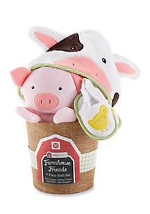 Baby Aspen™ Farmhouse Friends Four-Piece Bath Time Bucket
