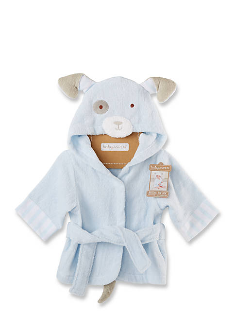 Baby Aspen™ Bath Time Bow Wow Puppy Hooded