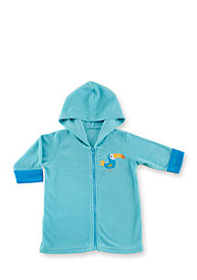 Tropical Toucan Hooded Beach Zip Up Towel