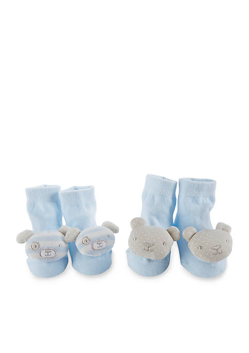 2-Pack Bear And Puppy Rattle Socks