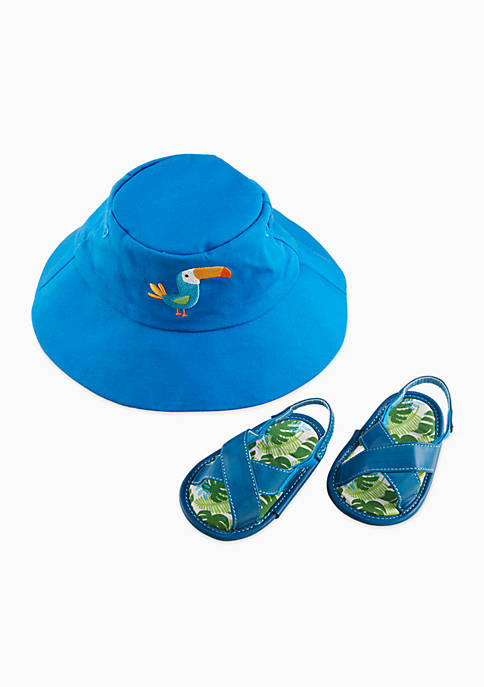 Baby Aspen™ Tropical Beach Hat and Flip Flop