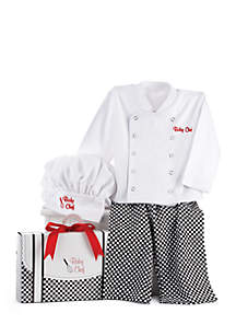 Baby Aspen™ Big Dreamzzz Baby Chef Three-Piece Layette In Culinary Themed Gift Box