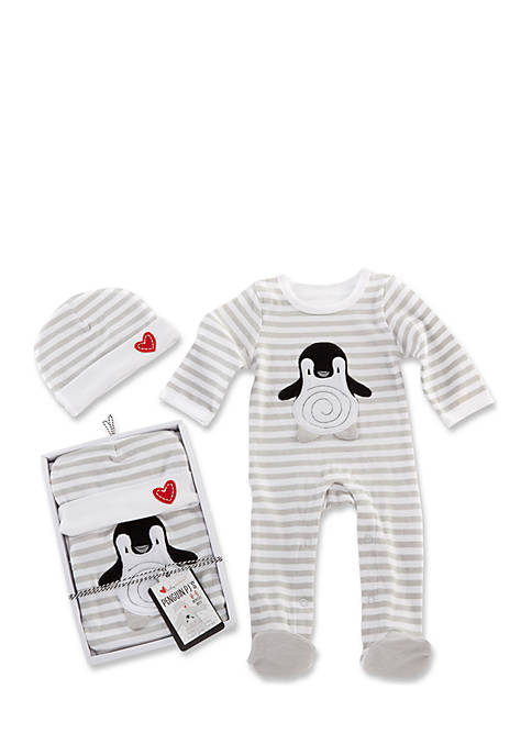 Baby Aspen™ Penguin PJs Two-Piece Pajama and Cap