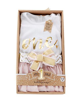 3da5e7c41 ... Baby Aspen™ My First Birthday 3-Piece Tutu Outfit Set ...