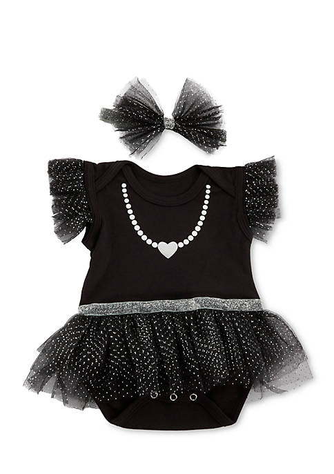 Baby Aspen™ My First Party Dress with Headband
