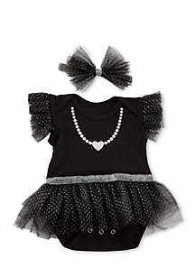 My First Party Dress with Headband Set