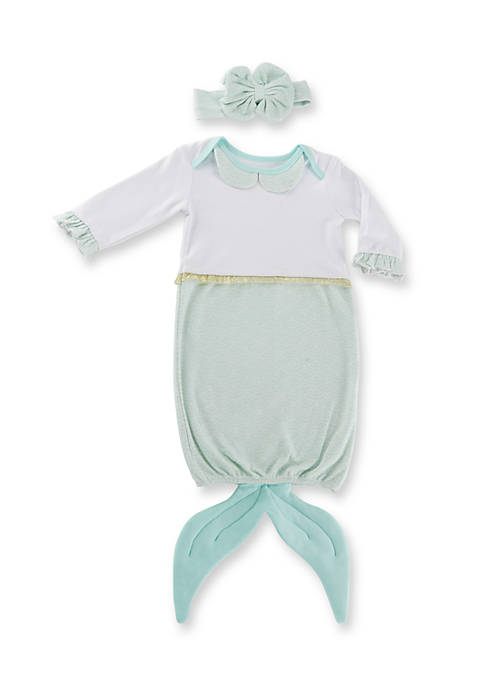 Baby Aspen™ Simply Enchanted Mermaid 2-Piece Layette Set