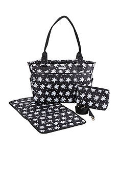 Baby Aspen™ Baby Aspen 360 Signature Diaper Bag - Black and White Floral
