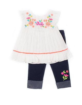 Little Lass Baby Girls 2 Piece Capri Legging Set Belk