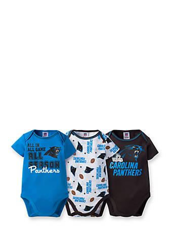 quality design be262 25f94 Gerber Carolina Panthers 3-Pack Short Sleeve Bodysuit Set