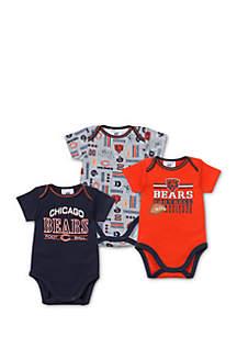 Chicago Bears 3-Pack Bodysuit Set