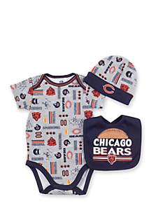 Chicago Bears 3-Piece Bodysuit Set