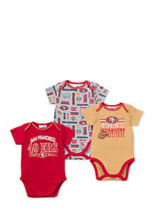 San Francisco 49ers 3-Pack Bodysuit Set