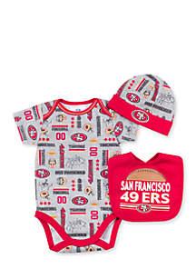 San Francisco 3-Piece 49ers Bodysuit Set
