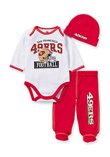 San Francisco 49ers 3-Piece Bodysuit Set