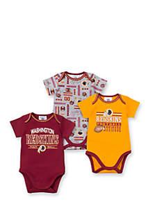 Washington Redskins 3-Pack Bodysuit Set
