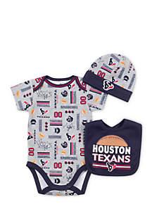 Houston Texans 3-Piece Bodysuit Set