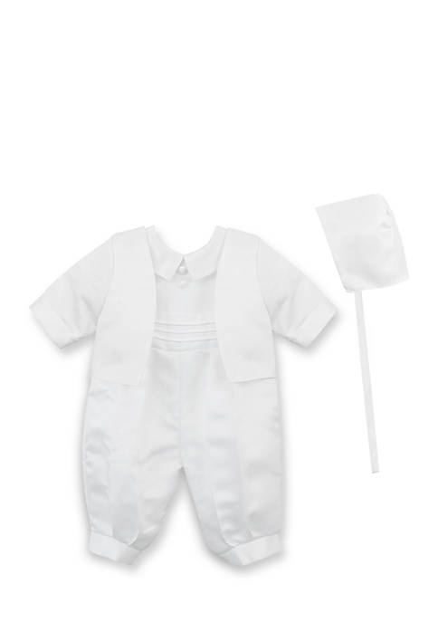 Jayne Copeland Satin Christening Suit Jacket Set