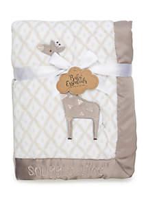 Baby Essentials Baby Boys Gray Giraffe Blanket