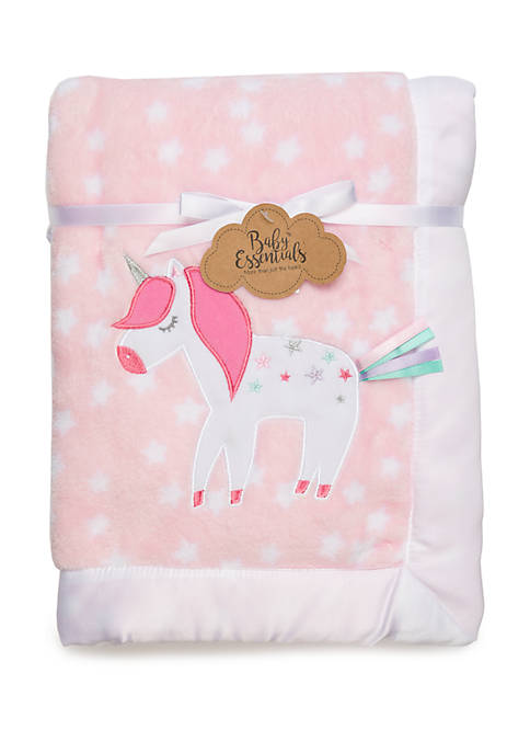 Baby Essentials Baby Girls Pink Unicorn Blanket