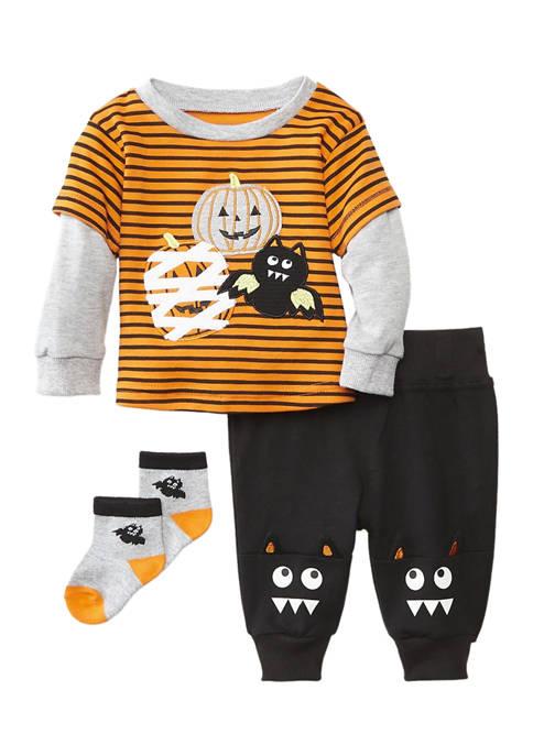 Baby Essentials Baby Boys Halloween Monsters Set
