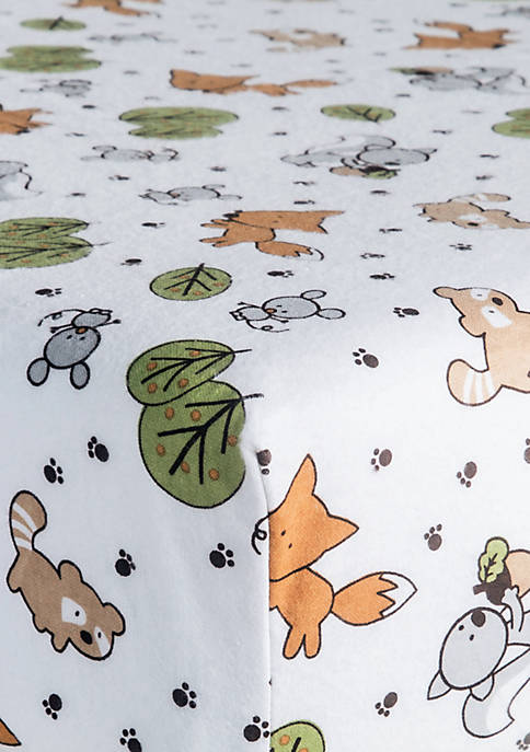 Trend Lab® Forest Animals Flannel Fitted Crib Sheet