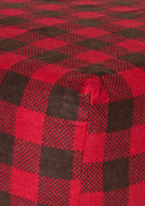 Red and Brown Buffalo Check Flannel Fitted Crib Sheet