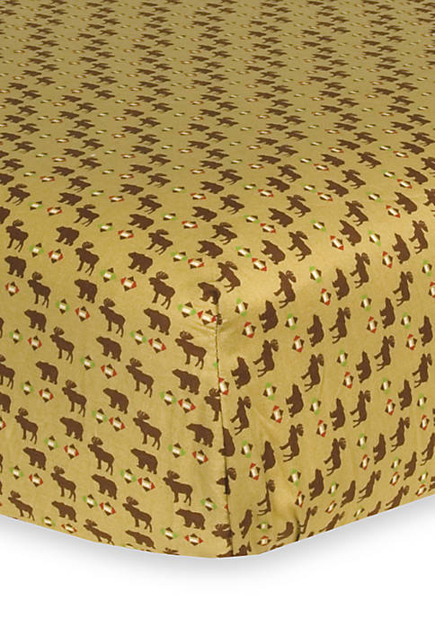 Northwoods Fitted Crib Sheet